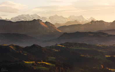 Hills at sunset by RobinHalioua