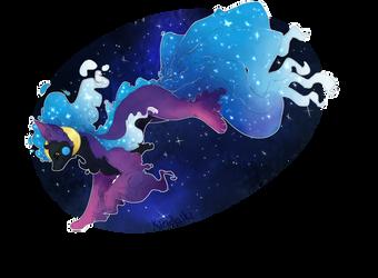 Pokefusion: Alolan Ninetales and Cosmog by Kiridaike