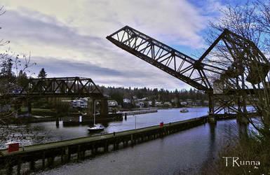Railroad Drawbridge by TRunna