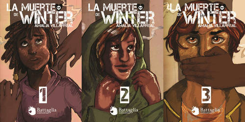 School work: Fake book covers for a trilogy by Amaliavs