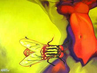 Fly over girl by J-E-Mikosz