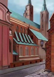 Gotycka uliczka by Asfodelium