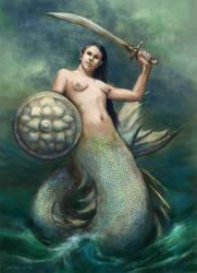 Warsaw's mermaid by Asfodelium