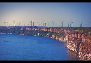 Windmills at Kaliakra Cape by JasperGrom