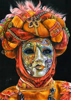 Venetian mask by slightlymadart