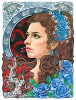 Lyanna Stark by slightlymadart