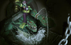 jokers killer croc joy ride by SleepTank