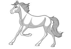 Happy horsey lineart by kokamo77