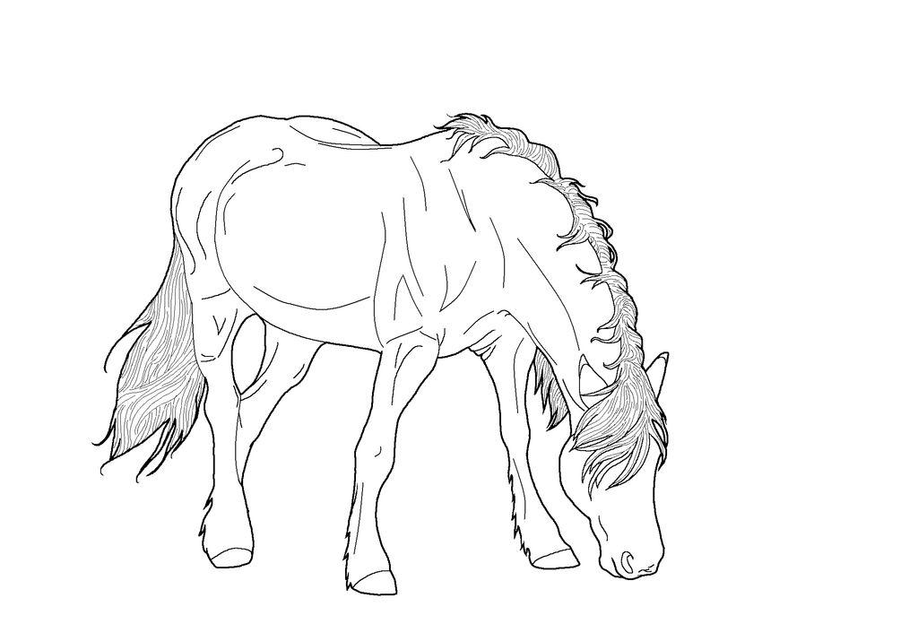 Horsey Lineart PNG by kokamo77