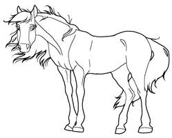 Horse lineart mare PNG by kokamo77