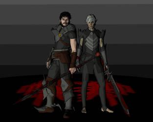 Hawke and Fenris by deathoflight
