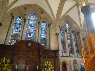 Temple Church modern stained glass by photodash