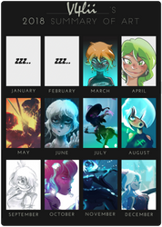 2018 Summary of Art by V4lii