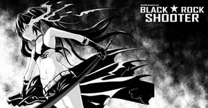 Black rock shooter fan art by dream-of-abell