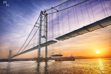 Osman Gazi Bridge by sleepingawakerza