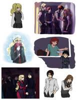 Hogwarts AU sketchdump 2 by rayn44