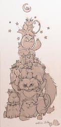 Tower Of Cats by Koggg