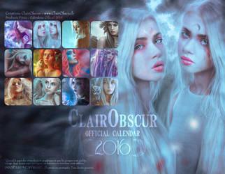 2016 CLAIROBSCUR ART OFFICIAL CALENDAR by clair0bscur