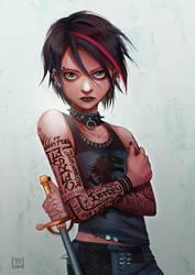 Punk Arya by YennyLaud