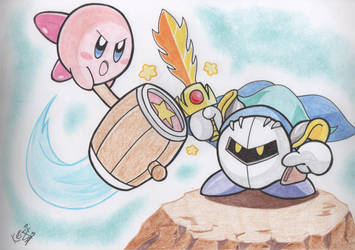 AT: Kirby vs Meta Knight by Keijisuke