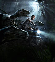 Jurassic World [Hi-Res Textless Poster] by PhetVanBurton