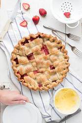 Strawberry PB and J Pie by bittykate