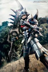 Monster Hunter Akantor armor by okageo