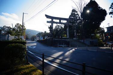 Tori Gate in Kyoto by Nyrey