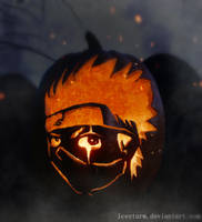 Kakashi Pumpkin by Icesturm