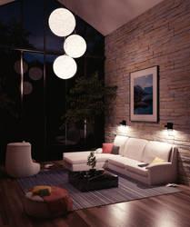 High Living Room ~ Night Version by Icesturm