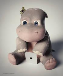 Sad Cyber Hippo by Icesturm