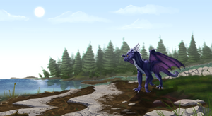 Commission - Lakeside Stroll ( + Timelapse) by FireDragon97