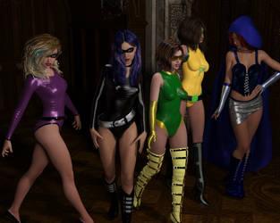 Halloween Crossover by EmpireCityHeroines
