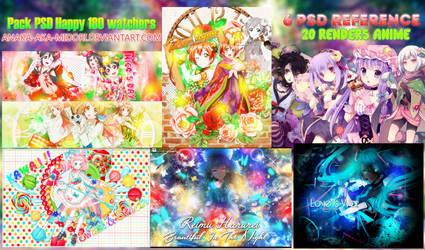 Pack PSD : Happy 180 + Watchers by Anaka-aka-Midori