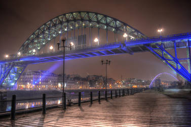 'Green bridge over the night - Newcastle' by FunkyBah