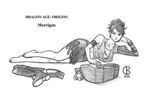 Dragon Age Origins: Morrigan by shrouded-artist