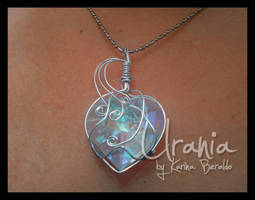 Crystal Wire Wrap Pendant by kaberaldo