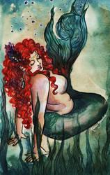 Plus Size Mermaid Green by kaberaldo