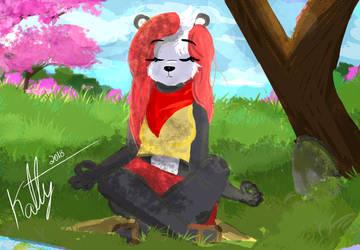 Commission Furry: Chiaki Maizono by KattyGreen