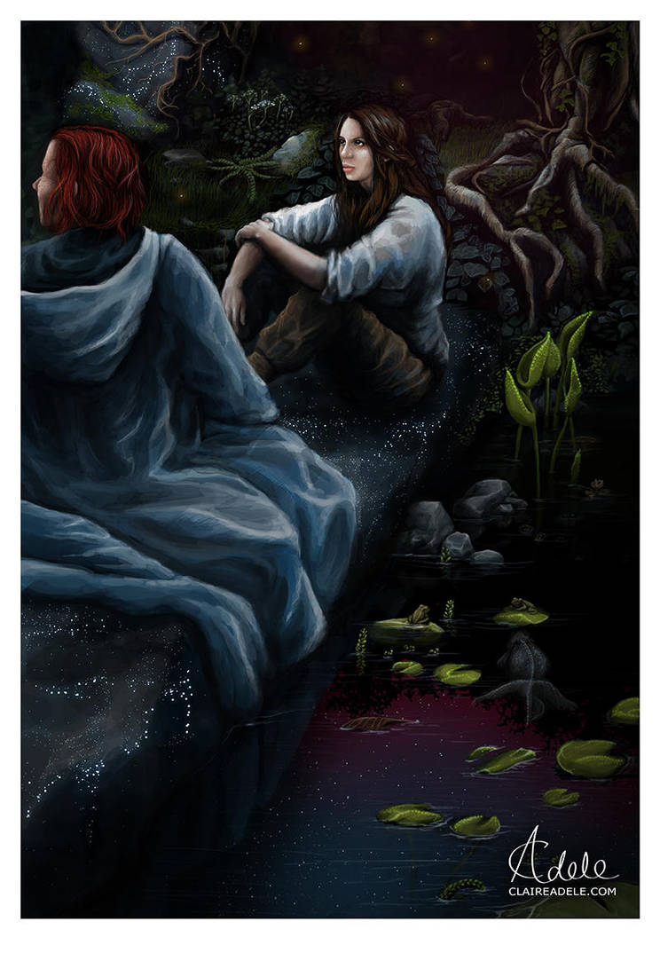 Kvothe and Denna - The Name of the Wind by ClaireAdele