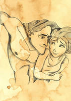 Tarzan and Jane by eliselikesart