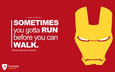 Iron Man - Rimac Job Application Poster by matijadananic