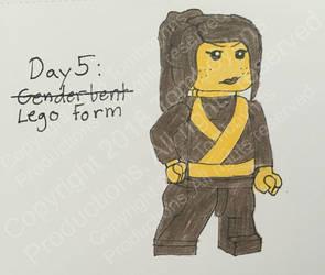 4/18 OC Challenge: Ninjago OC - Day 5 by Tomboyhns