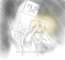 Minecraft Creeper in Anime by Indignation