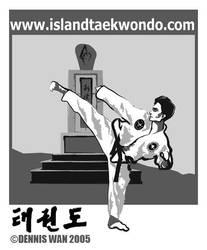 Taekwon-do Illustration 2005 by bluepencil