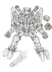 cyborg armor by Psychorobo