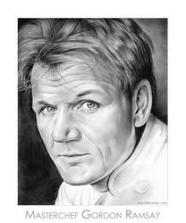 Chef Gordon Ramsay by gregchapin