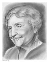 Helen Keller Sketch of the Day for Friday by gregchapin
