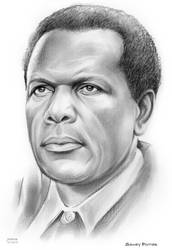 Sidney Poitier by gregchapin