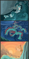 Mythical water creatures and deities calendar 2013 by Dferous